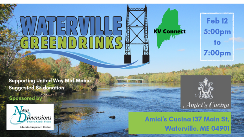 Waterville Green Drinks - supporting United Way of Mid-Maine