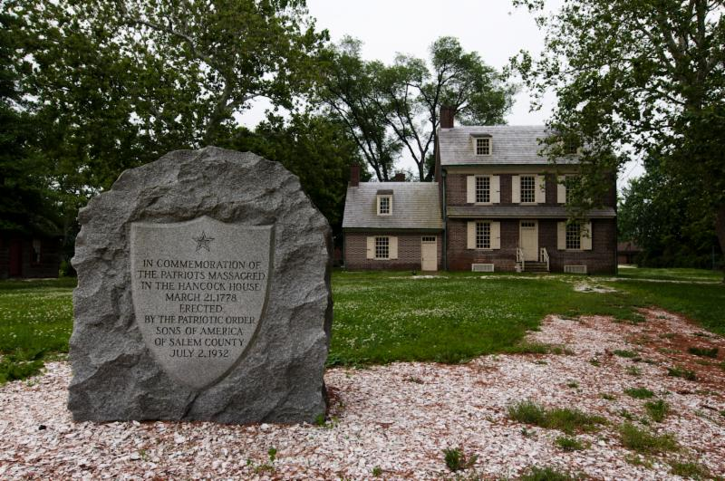 Hancock House monument