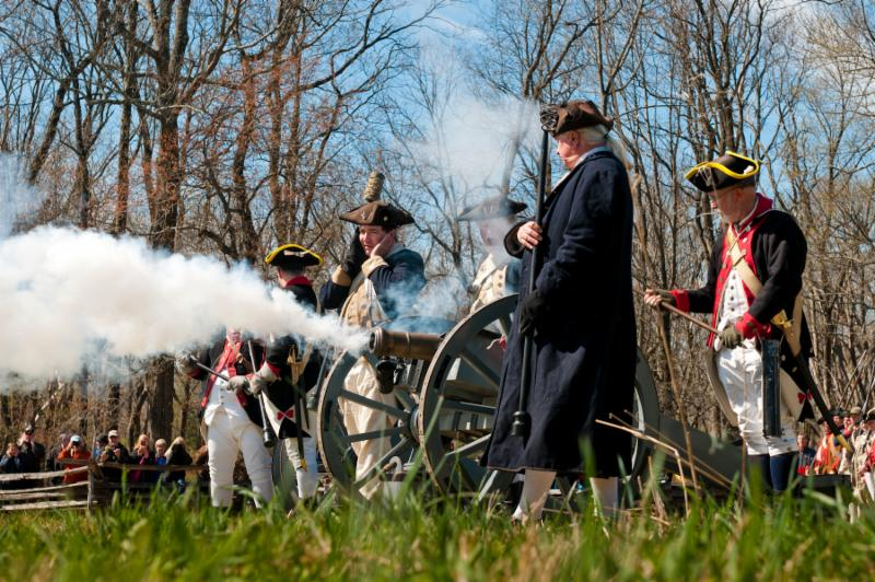 Morristown encampment artillery