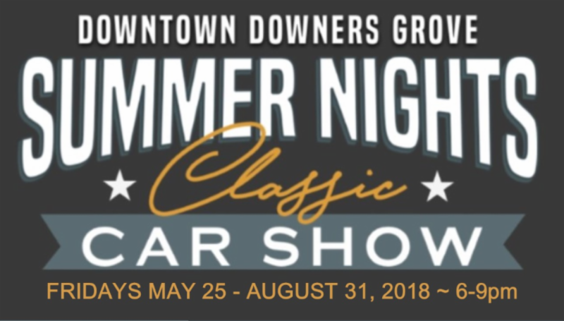 Downtown Downers Grove Car Show Schedule Announced - Car show schedule