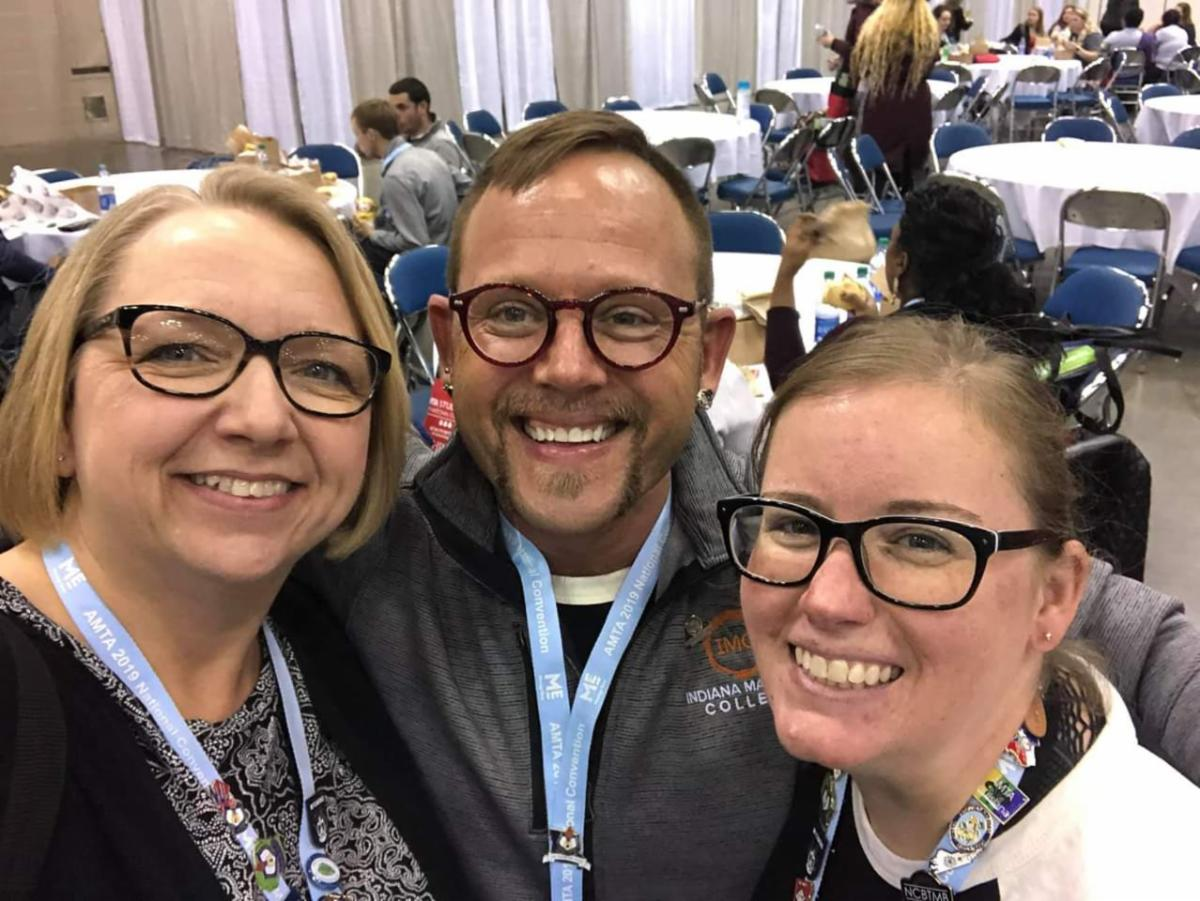Volunteers Dawn Jones-Graham and Erika Hoff with member, Brandon Rutten