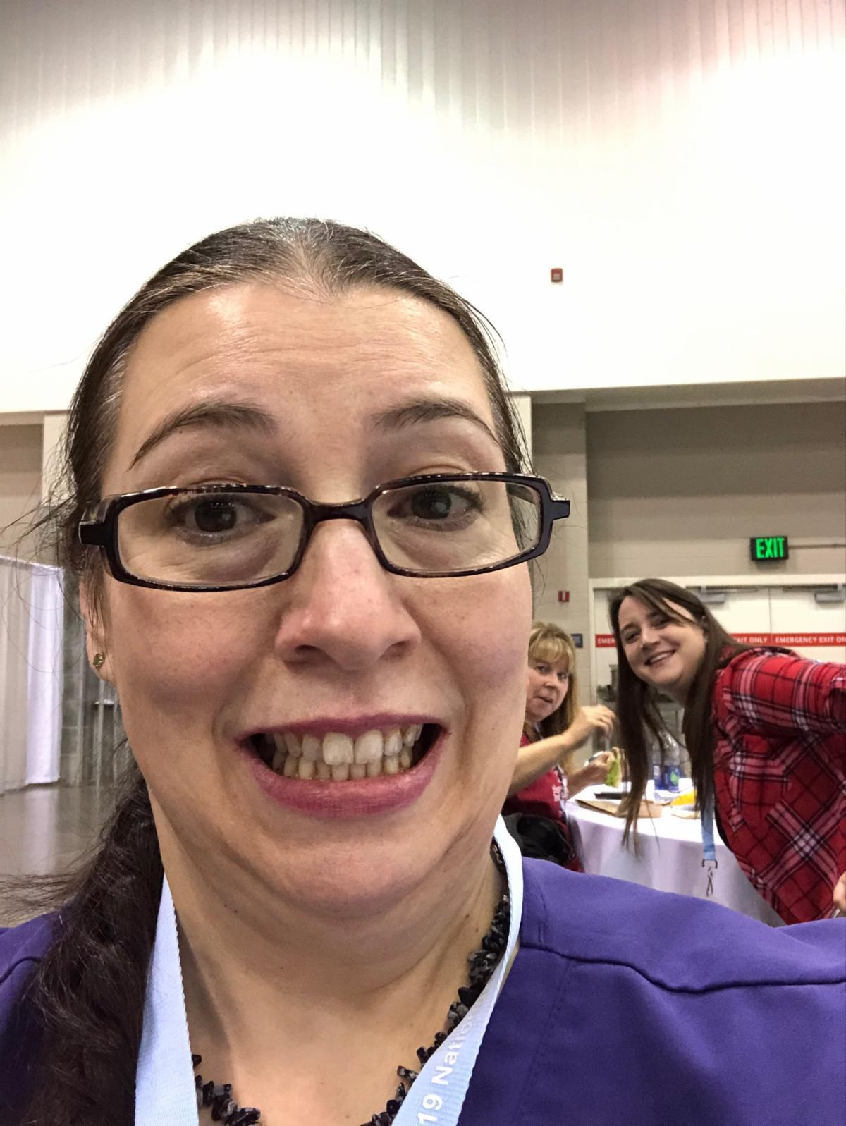 Susan Moody, Morgan Horton, Kelly McKinney (chapter volunteers)