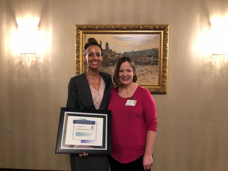 2019 Chapter President Award Elizabeth Cain