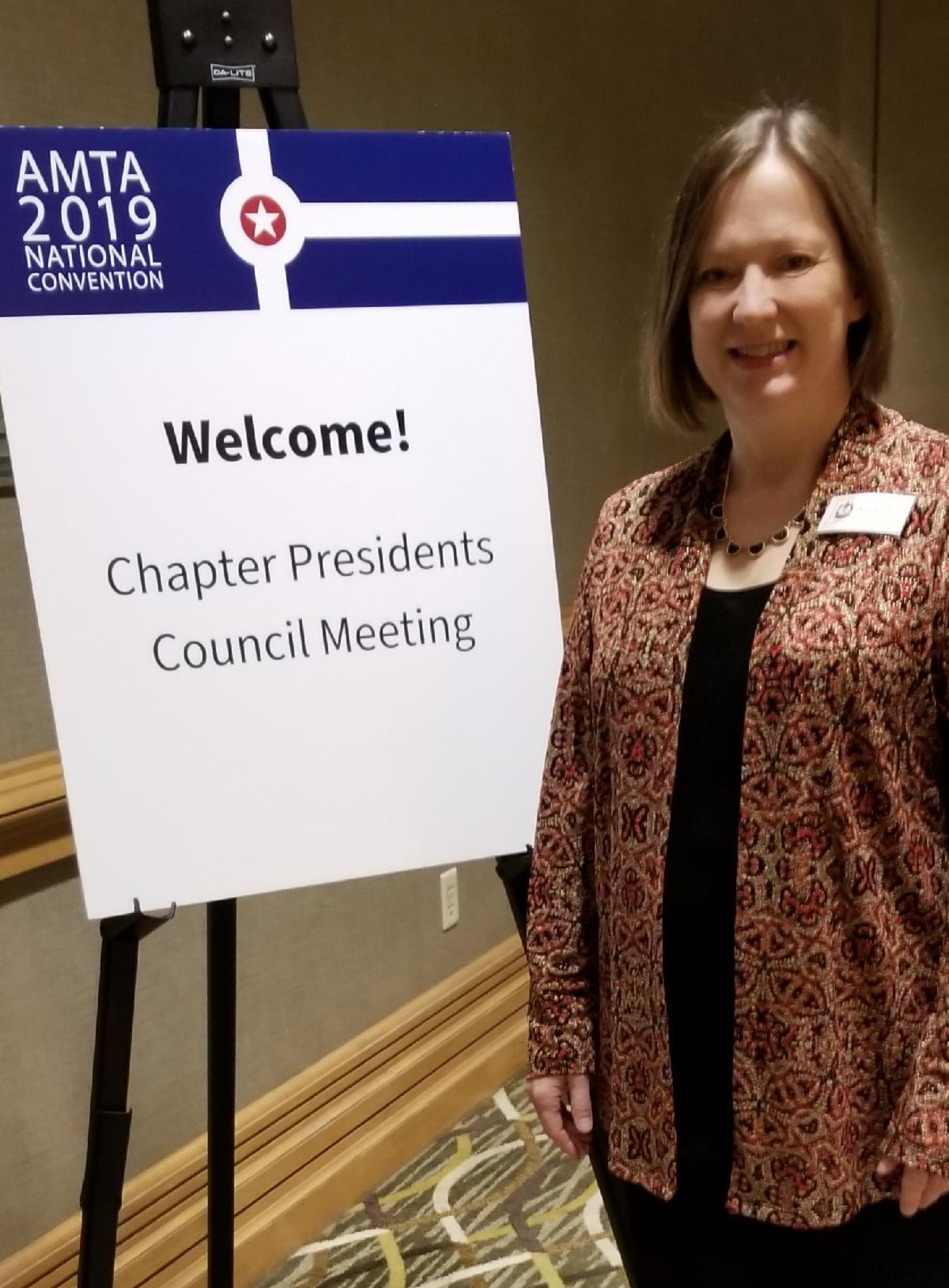 Kimberly Pucka attending the president meeting