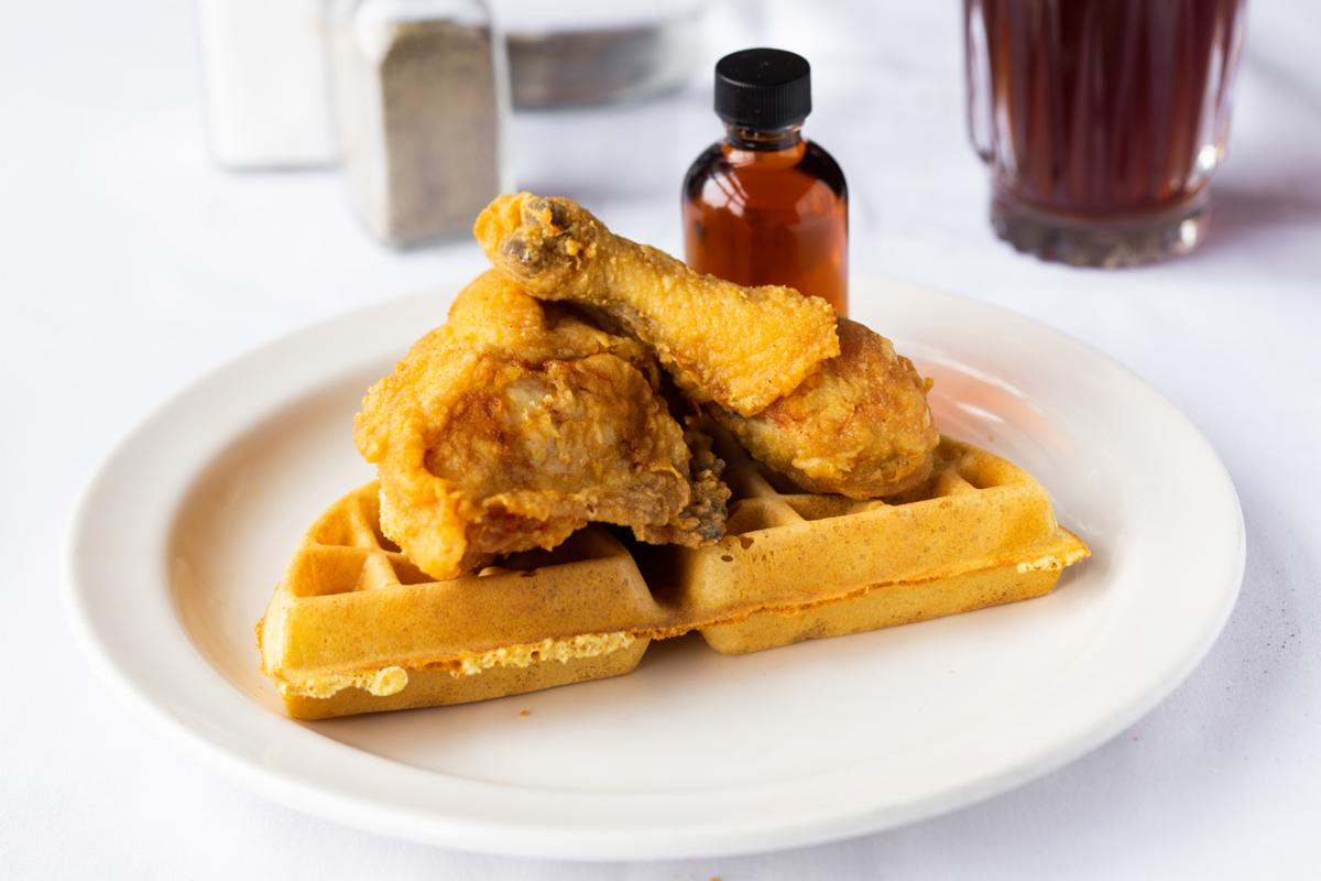 WE fried chicken and waffles