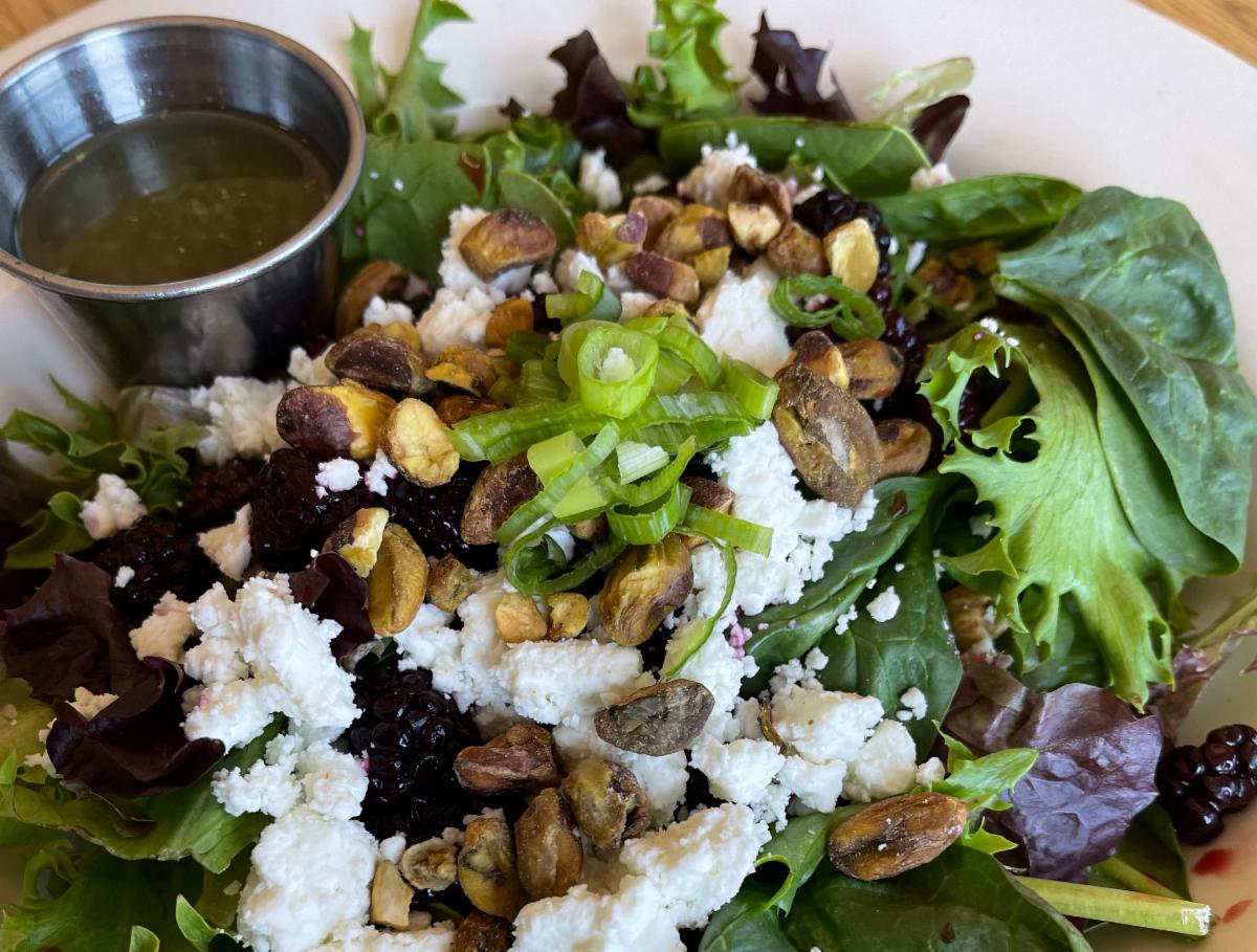 Blackberry pistachio salad