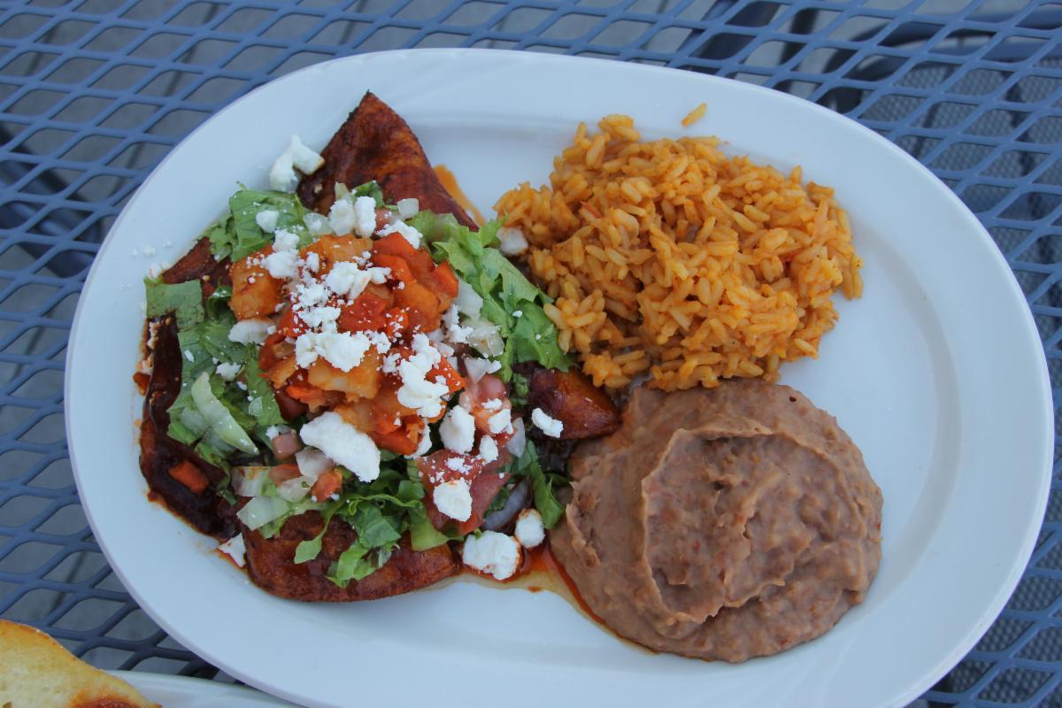 Pork enchilada