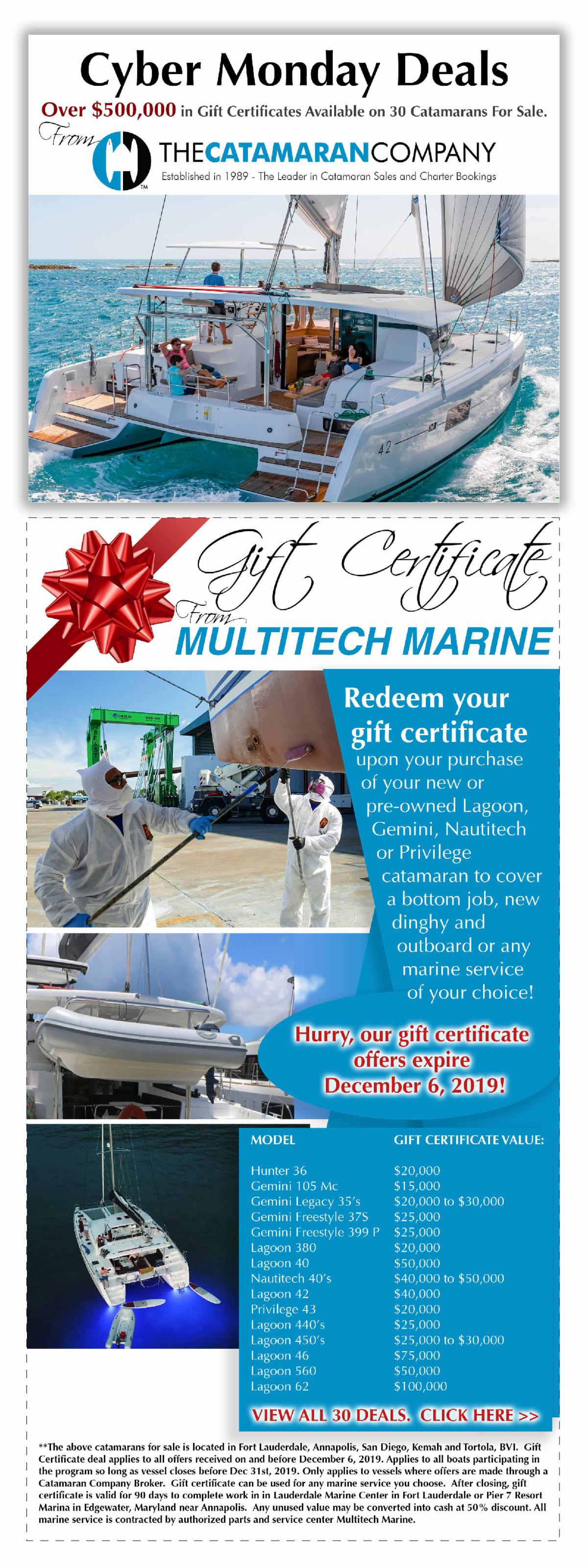 catamaran deals