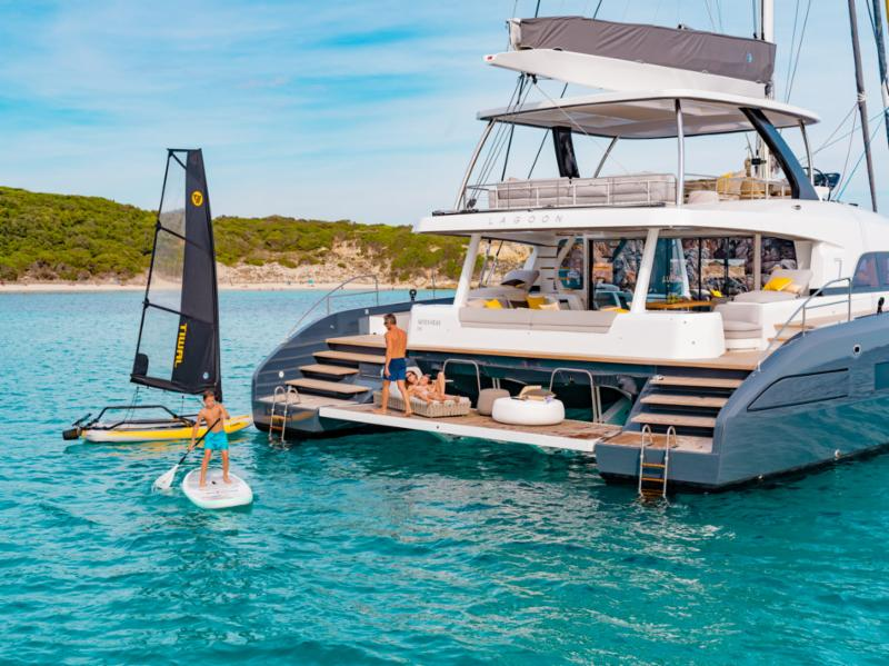 Lagoon SEVENTY 7 on Display during Cannes Yachting Festival