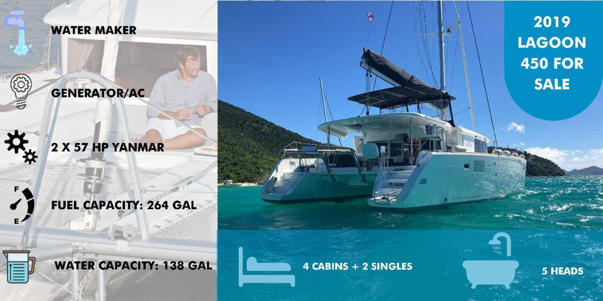 Nicely Maintained 2019 Lagoon 450 For Sale