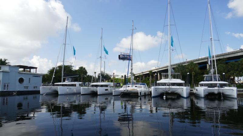 catamarans on display
