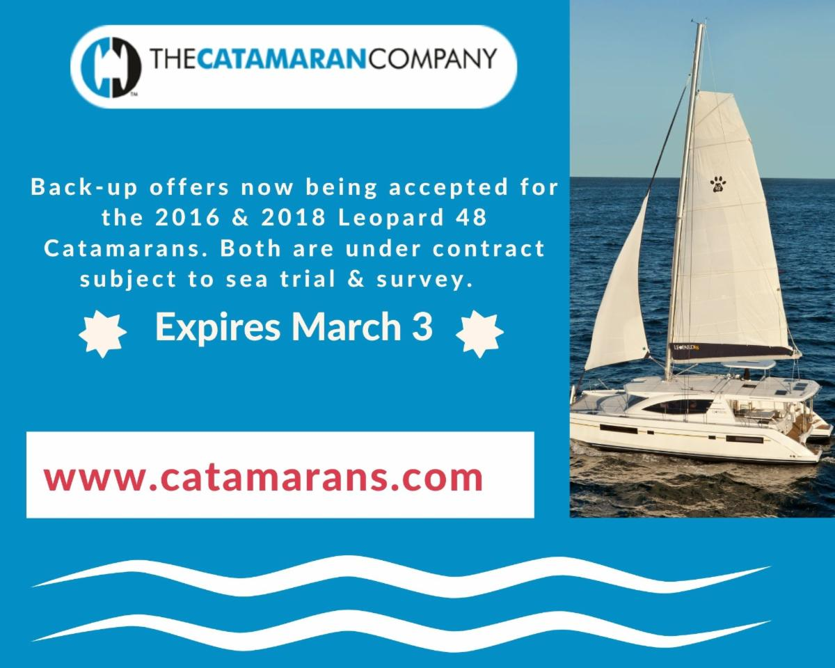 Attention Buyers: Back Up offers Accepted on Leopard 48's X 2