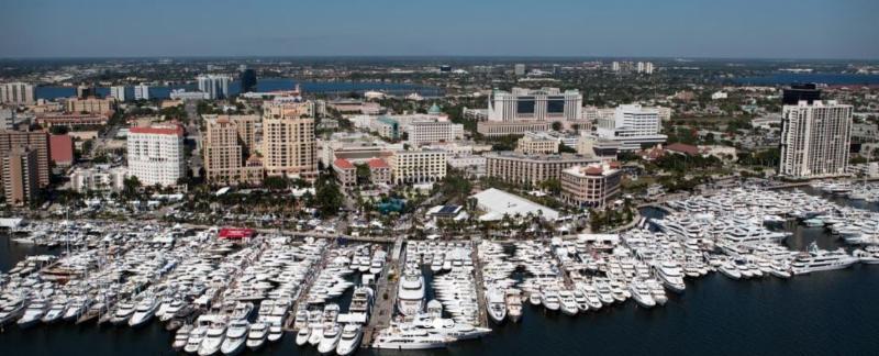 Lagoon Seventy 8  Motor Yacht on display during Fort Lauderdale Boat Show Nov 1 - Nov 5, 2017