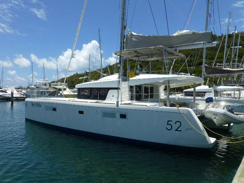 Lady Helia is the only pre-owned Lagoon 52 currently available in the United States.