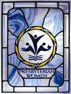 Presbyterian Women stained glass window logo