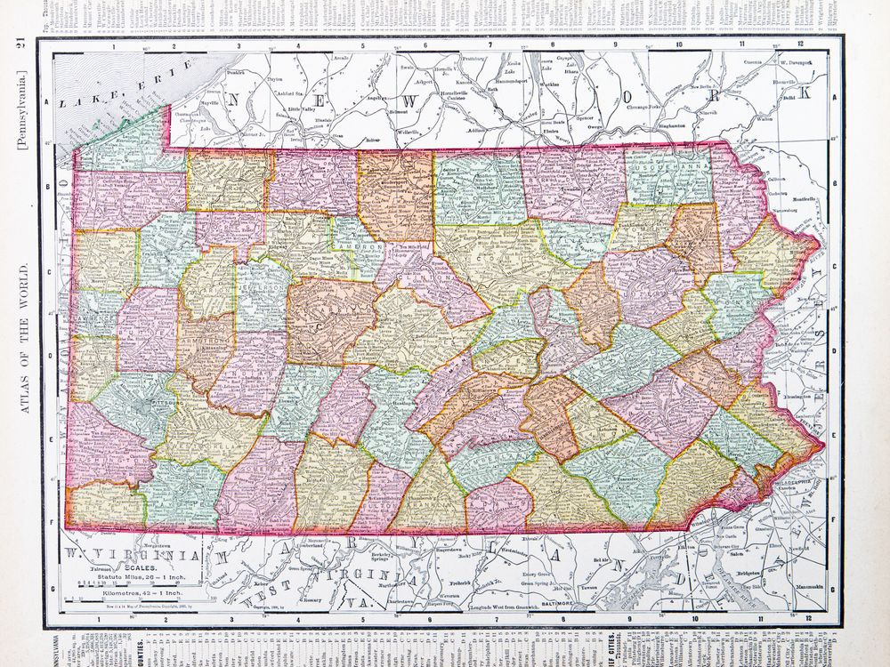 Pennsylvania map