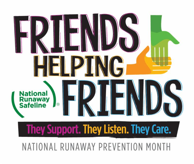 National Runaway Prevention Month logo