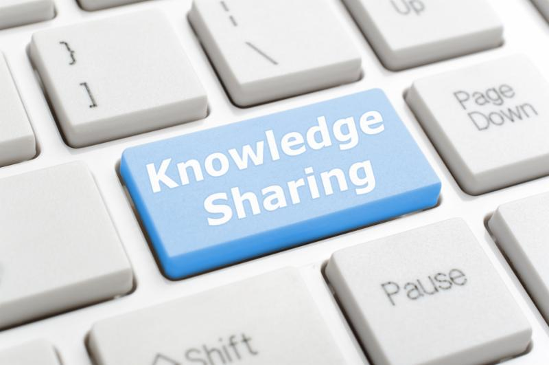 Concept image of Knowledge Sharing button on computer keyboard