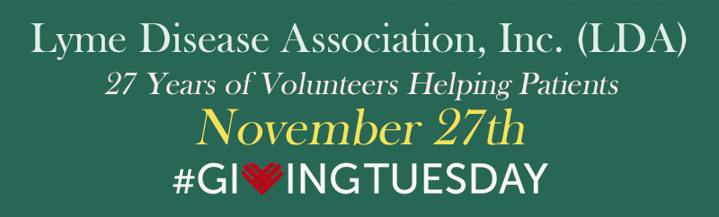 Double Your $$ on Giving Tuesday; Conference Photos; WG Report Released; Lyme Innovation; Dr. Legislation