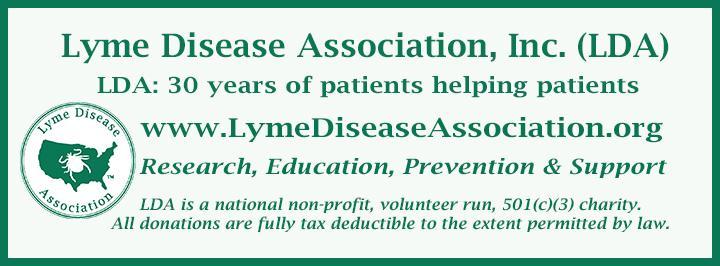 Lyme Disease Association Newsletter Banner