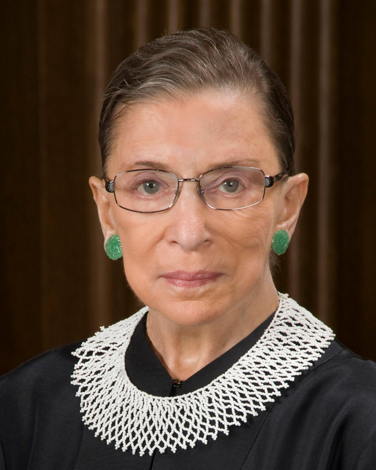 A head shot of Justice Ginsburg