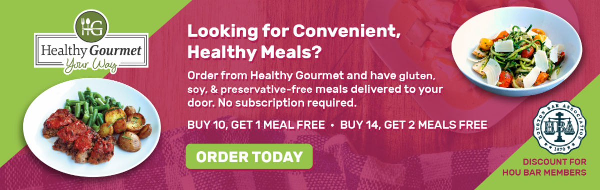 Use coupon code HOUBAR to get discounted meals from Healthy Gourmet
