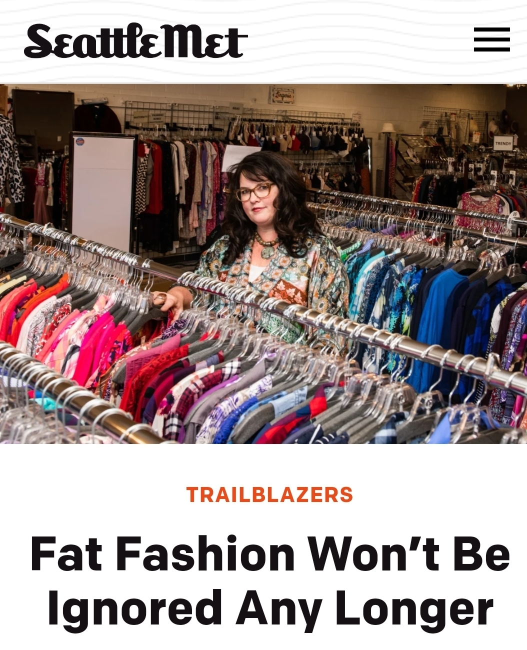 Seattle Met Fat Fashion article
