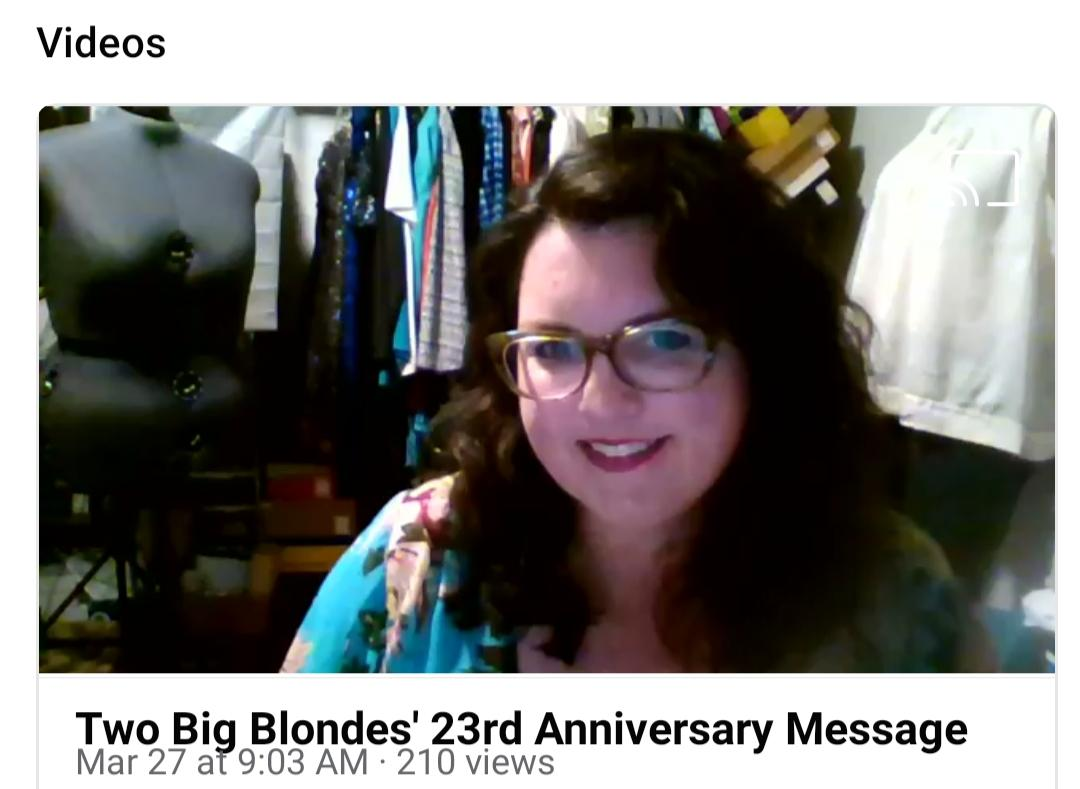 Two Big Blondes' 23rd Anniversary Video Message