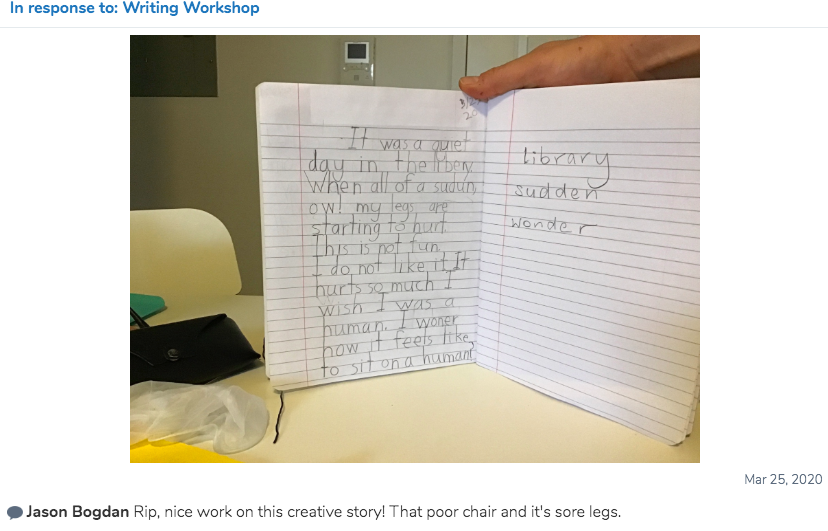 Writing workshop 7s