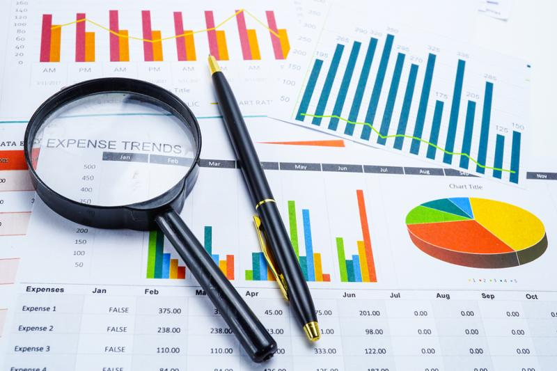 Charts Graphs paper. Financial development_ Banking Account_ Statistics_ Investment Analytic research data economy_ Stock exchange trading_ Mobile office reporting Business company meeting concept.