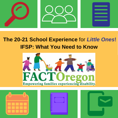 20-21 School Experience for Little Ones IFSP What You Need to Know