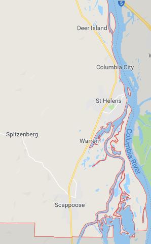 Columbia County map
