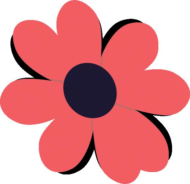 Graphic Pink Flower