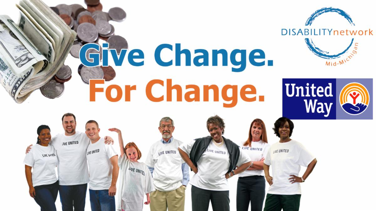 give change for change benefiting united way of midland county