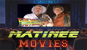 movie theater with back to the future showing