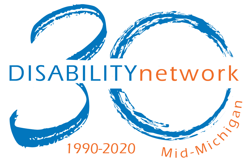 30 year anniversary logo for disability network 1990-2020