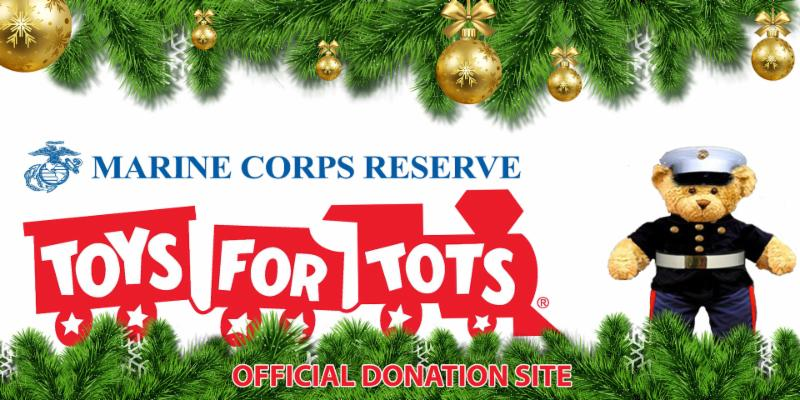 toys for tots logo with marine corps teddy bear