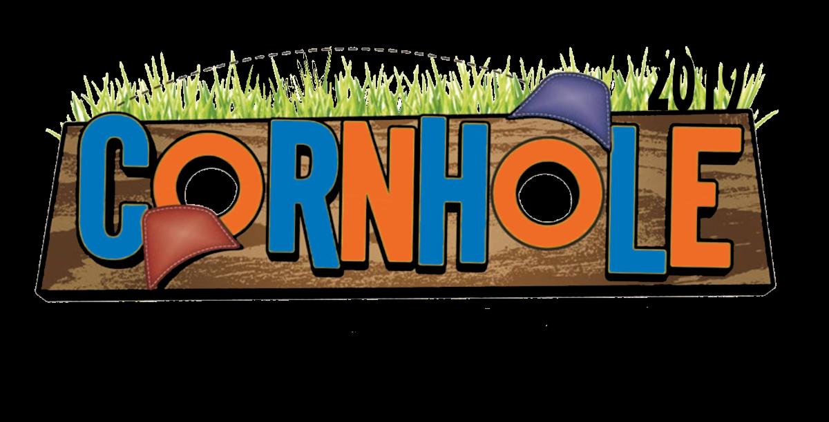 Cornhole Classic logo in blue and orange