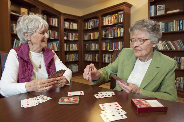 women playing cards