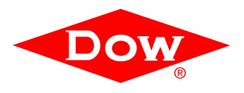 dow logo white letters on red diamond
