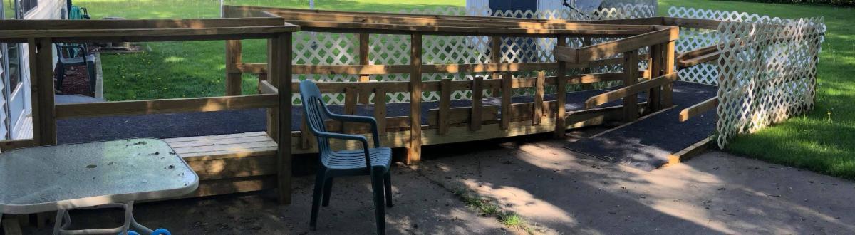 new ramp outside steve_s home