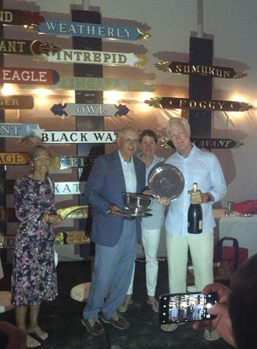 Weatherly_s 2019 Opera House Cup winning skipper Elliot Gewirtz and owner George Hill. _Photo Courtesy_ George Hill_