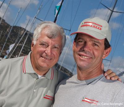 Patrizio Bertelli and Torben Grael