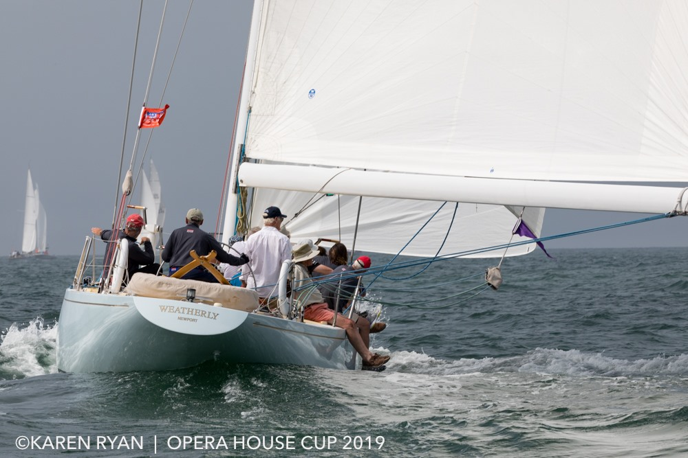Weatherly sailing downwind at the 2019 Opera House Cup_ Nantucket_ MA. _ Photo Courtesy_ Karen Ryan Photography