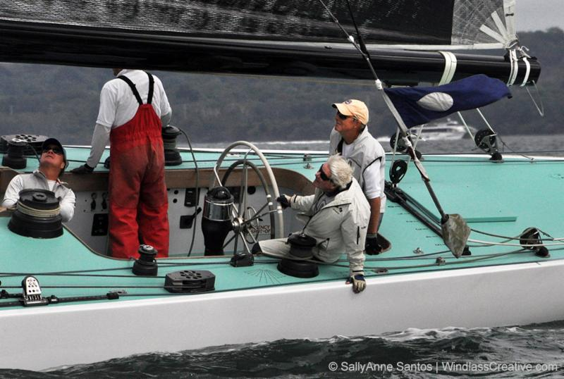 Jack Curtin _on helm_ with xx racing at the 2017 12mR North American Championship