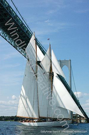 Classic Yacht Regatta Eleanora Newport Bridge _ SallyAnne Santos Windlass Creative