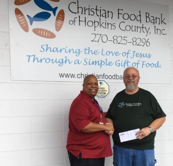 Charles Gant and Phillip McCoy at the Christian Food Bank