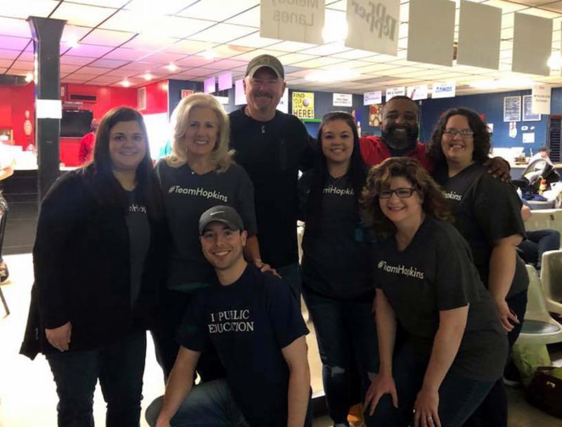 Central Office team at Bowl for Kids Sake fundraiser