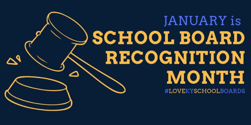 January is School Board Recognition Month logo