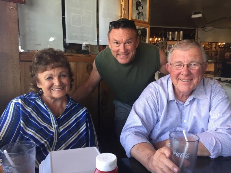 Dave and Suzy Bancroft with Jim Smith